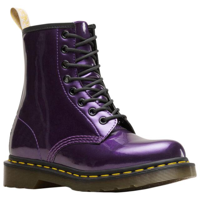 buy \u003e dr martens 1460 purple chrome
