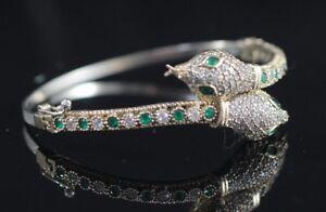925-Sterling-Silver-Handmade-Authentic-Turkish-Emerald-Bracelet-Bangle-Cuff