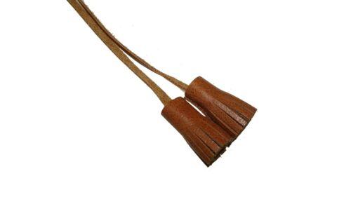 leather tassle real leather UK tag pull tie original decoration toggle shoe tie