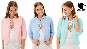 Knitted-Bed-Jacket-With-Tie-Front-Pink-Blue-Mint-Green-up-to-XOS