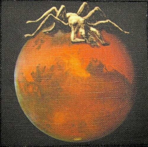 ARACHNE ON MARS Sew On Shirt Bag What did we find on Mars Printed Patch