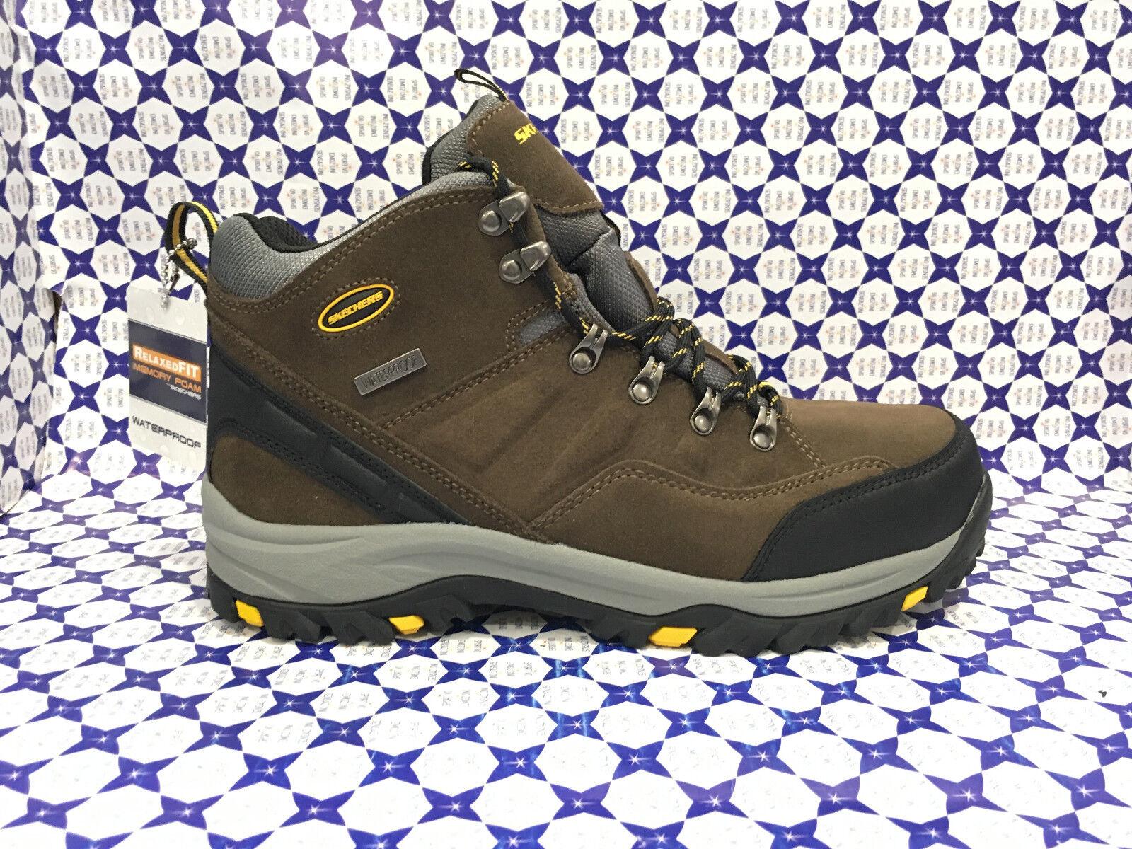 shoes Trekking Skechers men - Relment Pelmo Waterproof - brown - 64869