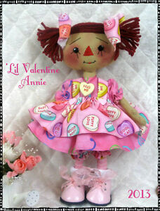"~Primitive Raggedy""'Lil Raggedy Annie"" PATTERN #132~from Ginger Creek Crossing"