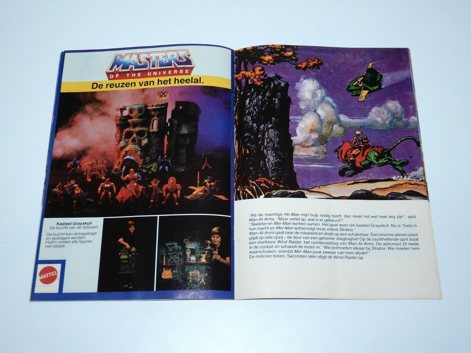 MOTU HE-MAN  2 GEVECHT IN IN IN DE WOLKEN 1983 DUTCH A5 PROMO COMIC CATALOG HTF 8e970f