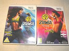 Zumba Fitness 1 e 2 per Nintendo Wii U Gioco Bundle completo