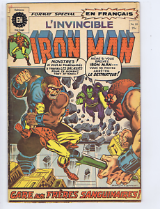 L'invincible Iron Man #10 Heritage FRENCH /CANADIAN 1st Appearance Thanos! (B&W)