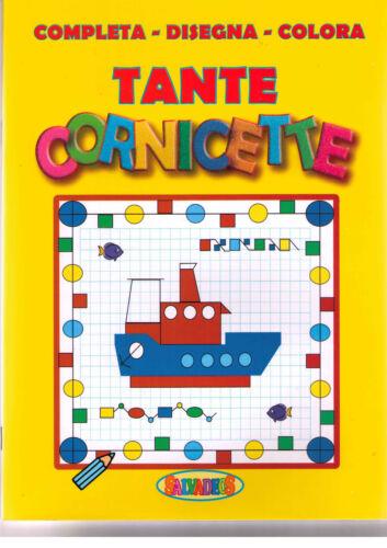 Completa disegna colora tante cornicette - Salvadeos - Libro Nuovo in offerta!
