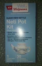 Well at Walgreens Neti Pot Kit Sinus Wash NIB