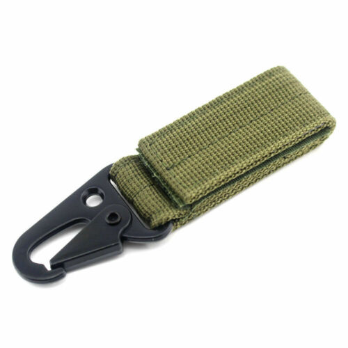 Tactical Hang Buckle Molle Backpack Accessories Keychain Clip Nylon Webbing