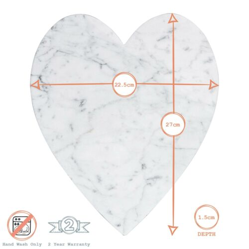 Heart Shaped Marble Hot Food Dish Trivet Table Food Serving Stand