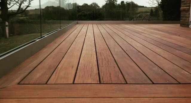 19 X 90mm Smooth Reeded Yellow Balau Hardwood Decking Seconds For Sale Ebay