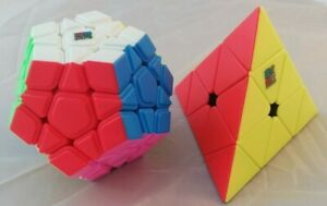 Zauberwürfel Set MoYu Megaminx + Pyraminx stickerless speedcubes brandneu