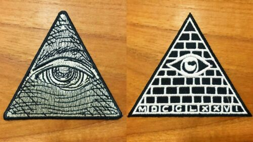 Eye Secret Society Symbols Logo Sew//Iron On Patch Embroidered Applique