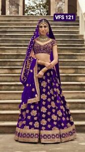 Party Wear Designer Heavy Embroidery Lehenga New Royal Bridal