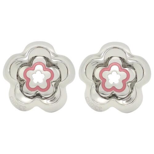 Orecchini donna CHOICE by CHIMENTO 0157225 acciaio fiore smaltati pendenti nuovi