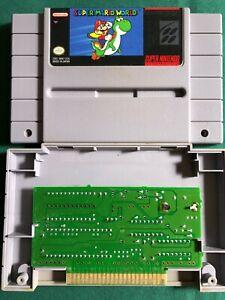*Super Mario World SNES Super Nintendo Original Game Tested Working & Authentic*