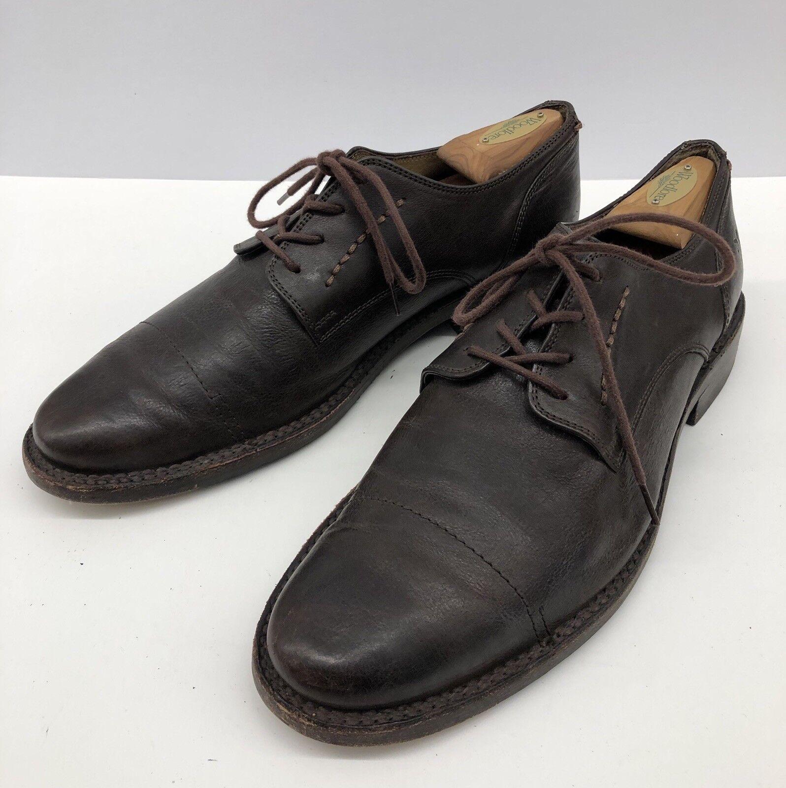 John A. FRYE braun Leather Cap Toe Comfort Dress Casual Mens schuhe Sz 11 D
