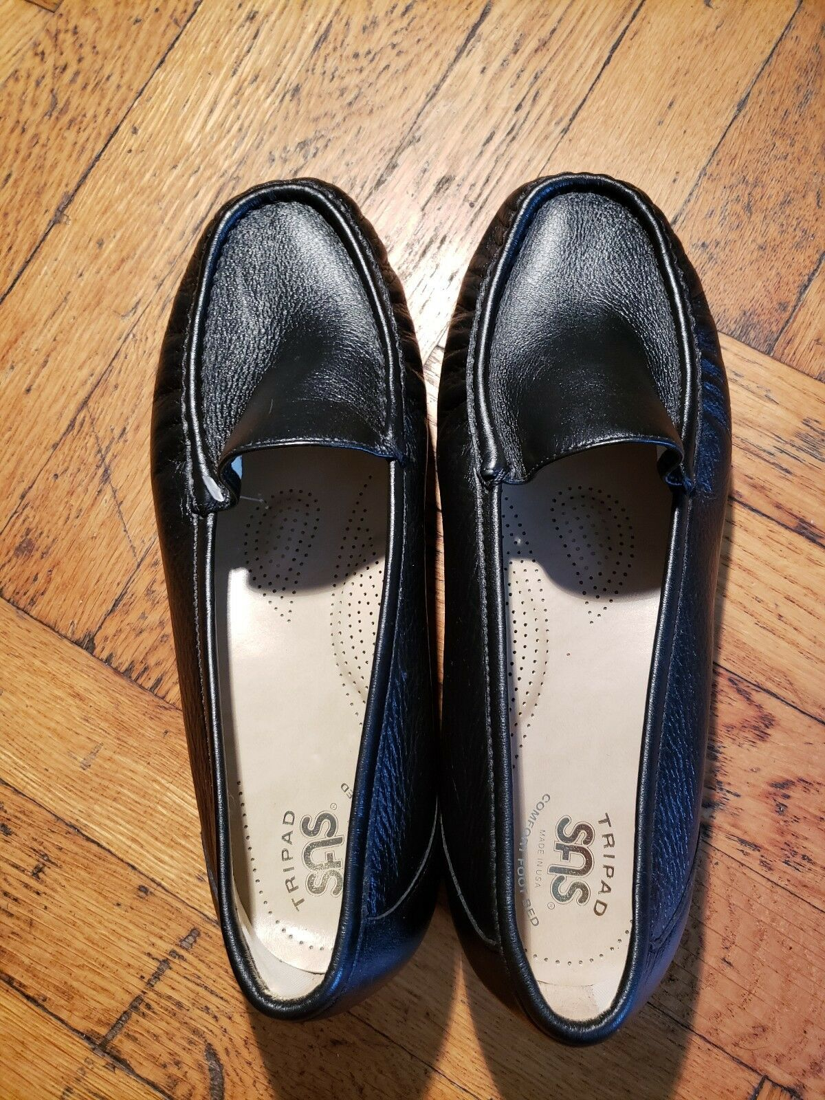 SAS Simplify Black Moccasin Size 10WW