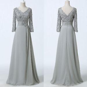 LAEC Chiffon Mother of the Bride Groom Formal Long Evening Prom Ball Women Dress