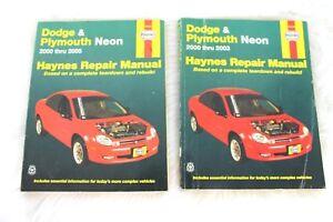 Automotive Car & Truck Manuals Dodge & Plymouth Neon Haynes Repair Manual 2000-2005