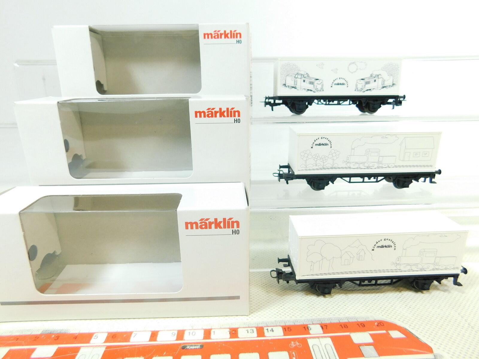 BS513-0,5 x Märklin H0   Ac Wagon Transport de Conteneurs 94384 94385 94386