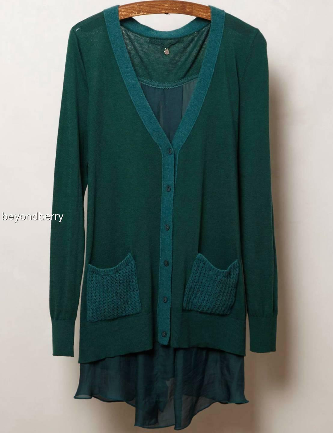 NEW Anthropologie Ravenna Cardigan by Knitted & & & Knotted  Size XS d27f95
