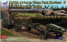 Bronco 1/35 British Airborne 75mm Pack Howitzer & 1/4 Ton Truck w/Trailer #35163