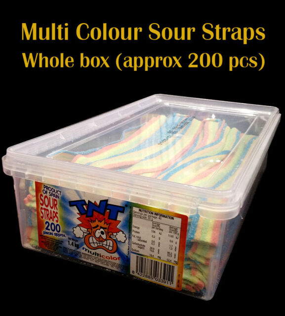 TNT Multicolor Sour Straps (whole box)