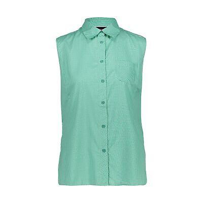 CMP Bluse  WOMAN SHIRT grün atmungsaktiv antibakteriell UV-Schutz kariert