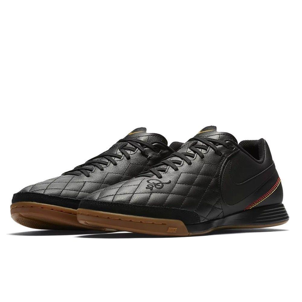 Nike Tiempo X Ligera 4 10R IC Indoor Soccer shoes AQ2202 007 turf cleats Sz 8-11