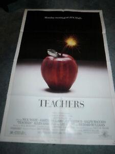 TEACHERS(1984)NICK NOLTE ORIGINAL ONE SHEET POSTER MINT UNUSED