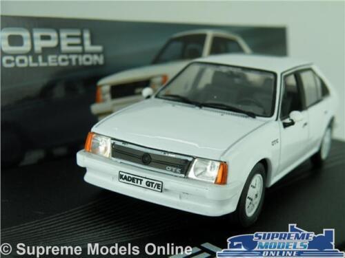 OPEL KADETT D GT//E MODEL CAR 1:43 WHITE IXO COLLECTION VAUXHALL ASTRA MK1 K8