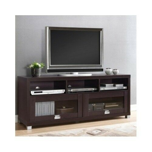 55 Inch Flat Screen Tv Stand Television Entertainment Center Cabinet Dark Media