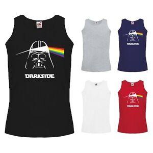 dd8407d8b7d07f Mens Darkside Darth Vader Pink Floyd Parody Logo Tank Top Vest NEW S ...