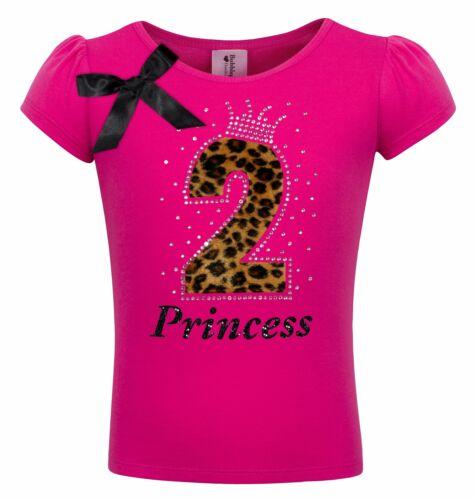 2nd Birthday Girl Shirt Pink Cheetah 2 Personalized Name