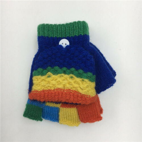 Newborn Toddler Baby Cute Thicken Patchwork Hot Girls Boys Of Winter Warm Gloves
