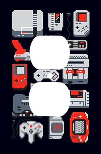 Decorative Decoupage Light Switch Covers The Retro Gamer Made to Order