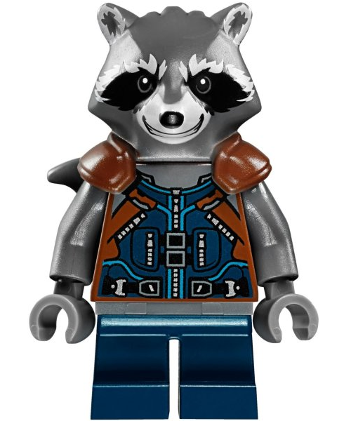 Lego Guardians of the Galaxy Rocket Raccoon MiniFigure with weapon new minifig