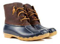 Sperry Top-sider Saltwater Sts91175 Women's Waterproof Duck Boot Tan/navy