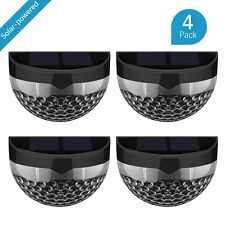 Perfect 4Pack Outdoor Solar Powered Light 6 LED Garden Security Fence Lamp  Waterproof