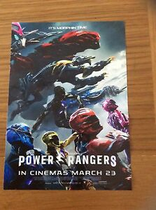 Promotional-Movie-Flyer-For-Power-Rangers-Reusable-Plastic-Flyer-Place-On-Glass
