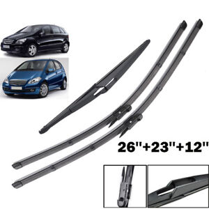 3PCS-Set-Front-Rear-Windscreen-Wiper-Blades-Kit-Fit-For-Mercedes-W169-W245-2004