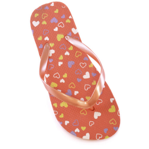 GIRLS DITSY HEART PRINT FLIP FLOP
