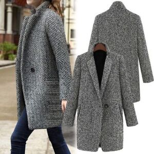 Womens-Lapel-Wool-Cashmere-Coat-Trench-Jacket-Long-Parka-Overcoat-Loose-Outwear