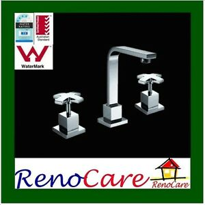 DELUXE-ICE-Square-WELS-Brass-Chrome-Vanity-Basin-Tap-Set-RC-6124S