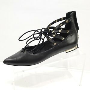 4c775298e2e6c WHBM White House Black Market Womens BELLE Pointed Toe Shoe Lace Up ...