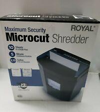 Royal Consumer 1005mc Maximum Security Microcut 10 Sheet Paper Shredder Used