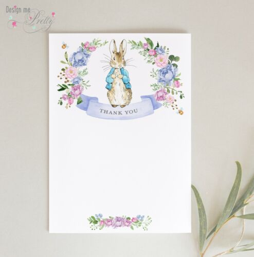 Pack of 8 BABY BOY postcard NOTELETS Peter Rabbit THANK YOU CARDS