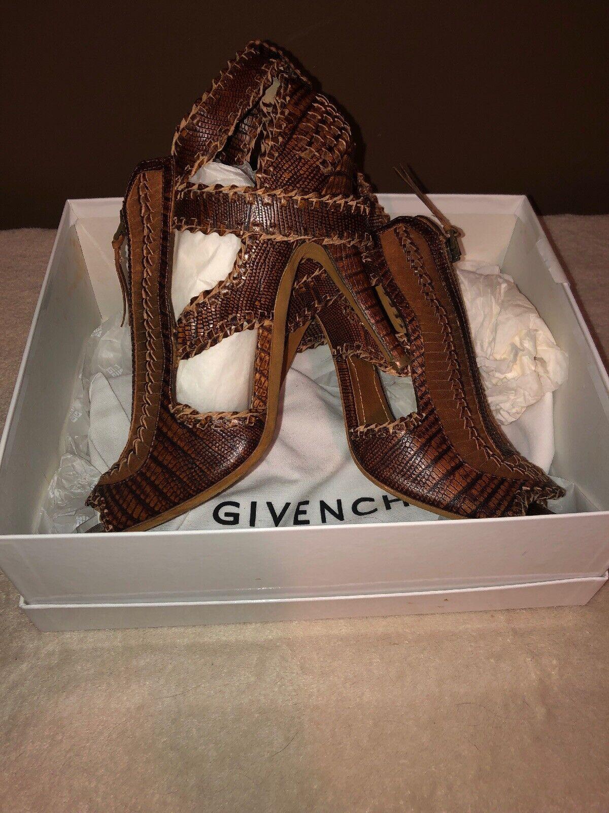 Givenchy braun 39.5 US 9.5 H. Calf PR. Brique Zipper Heels damen's schuhe   Wow