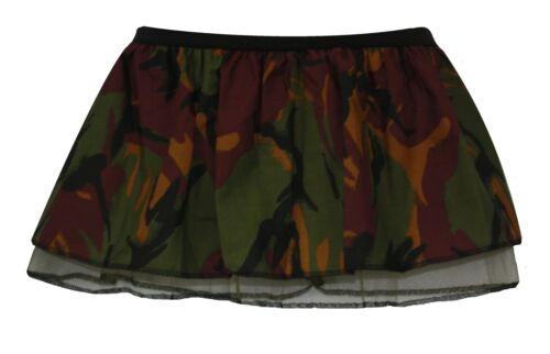 "Childrens 10/"" Camo Combat Army Girl Tutu Dragons Den GI Book Week Fancy Dress UK"